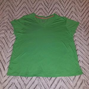 Green V Neck Tee Shirt